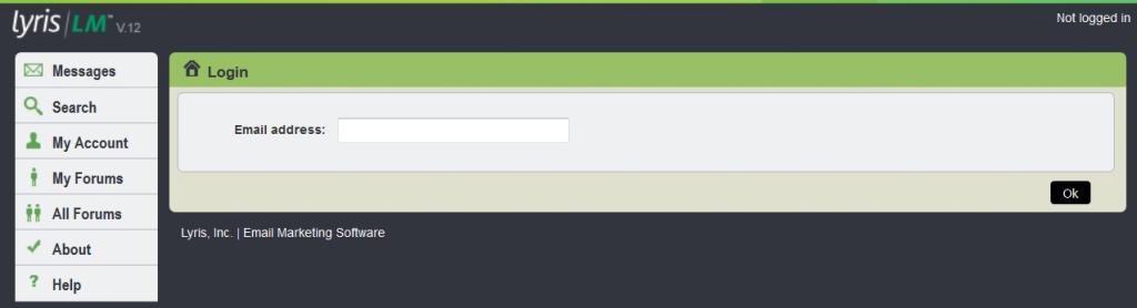 Email address box